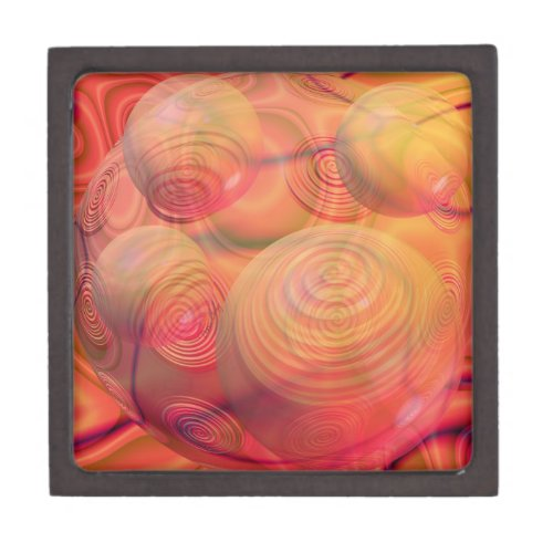 Inner Flow IV Fractal Abstract Orange Amber Galaxy Jewelry Box