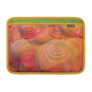 Inner Flow IV Fractal Abstract Orange Amber Galaxy MacBook Sleeves