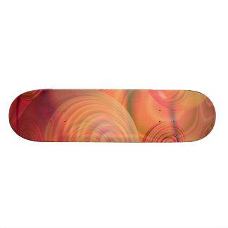 Inner Flow IV Fractal Abstract Orange Amber Galaxy Skateboard
