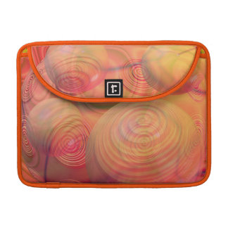Inner Flow IV Fractal Abstract Orange Amber Galaxy Sleeve For MacBook Pro