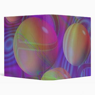 Inner Flow V Abstract Fractal Violet Indigo Galaxy 3 Ring Binders