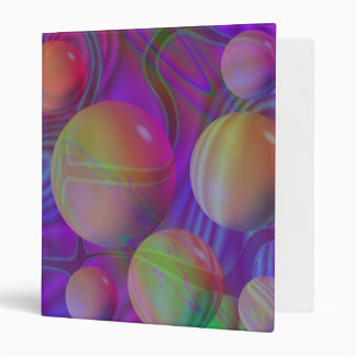 Inner Flow V Abstract Fractal Violet Indigo Galaxy Binders