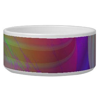 Inner Flow V Abstract Fractal Violet Indigo Galaxy Bowl