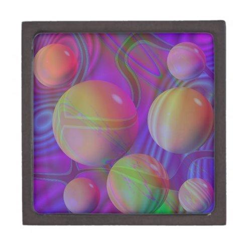 Inner Flow V Abstract Fractal Violet Indigo Galaxy Gift Box