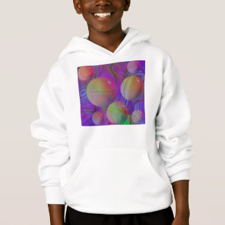 Inner Flow V Abstract Fractal Violet Indigo Galaxy Hoodie