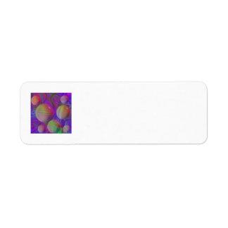Inner Flow V Abstract Fractal Violet Indigo Galaxy Label