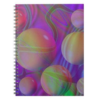 Inner Flow V Abstract Fractal Violet Indigo Galaxy Note Book