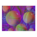Inner Flow V Abstract Fractal Violet Indigo Galaxy Postcard