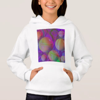 Inner Flow V Abstract Violet Indigo Fractal Galaxy Hoodie
