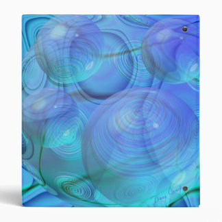 Inner Flow VI – Aqua & Azure Galaxy 3 Ring Binders