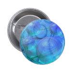 Inner Flow VI – Aqua & Azure Galaxy Pinback Buttons