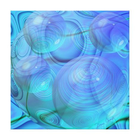 Inner Flow VI – Aqua & Azure Galaxy Canvas Print
