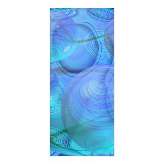 "Inner Flow VI – Aqua & Azure Galaxy 4"" X 9.25"" Invitation Card"