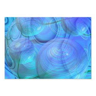 "Inner Flow VI – Aqua & Azure Galaxy 5"" X 7"" Invitation Card"