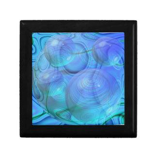 Inner Flow VI – Aqua & Azure Galaxy Jewelry Box