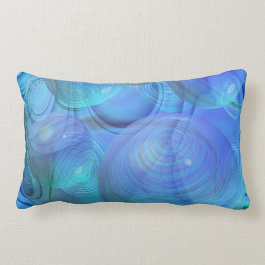 Inner Flow VI – Aqua & Azure Galaxy Lumbar Pillow