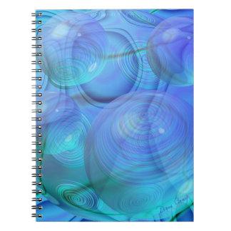 Inner Flow VI – Aqua & Azure Galaxy Spiral Note Books