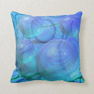 Inner Flow VI – Aqua & Azure Galaxy Pillow