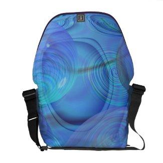 Inner Flow VI – Aqua & Azure Galaxy rickshawmessengerbag