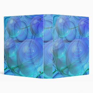 Inner Flow VI – Aqua & Azure Galaxy Vinyl Binder