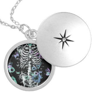 Inner glow, inner peace round locket necklace