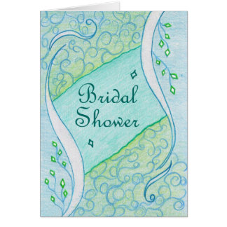 Inner green on blue color Wedding Invitation