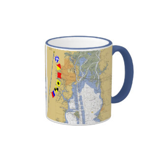 Inner Harbor chart of Mobile Bay AL Mug