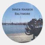 Inner Harbor Round Stickers