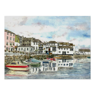 'Inner Harbour, Falmouth' Poster