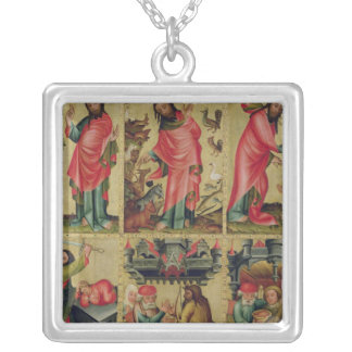Inner left wing of the High Altar Silver Plated Necklace