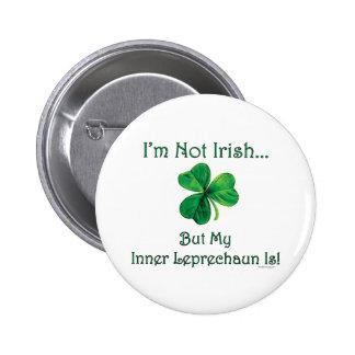 Inner Leprechaun St. Patrick's Day Button