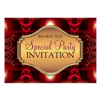 Inner Light Fractal Art Mini Invitations Business Card Templates