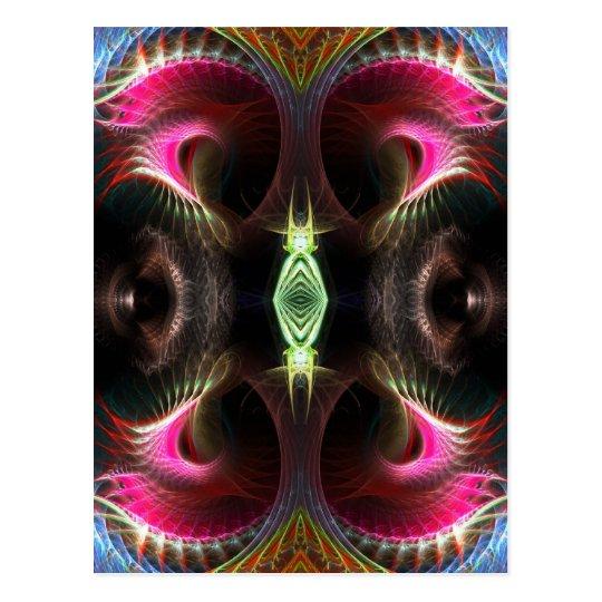 Inner Light Fractal Art Postcard