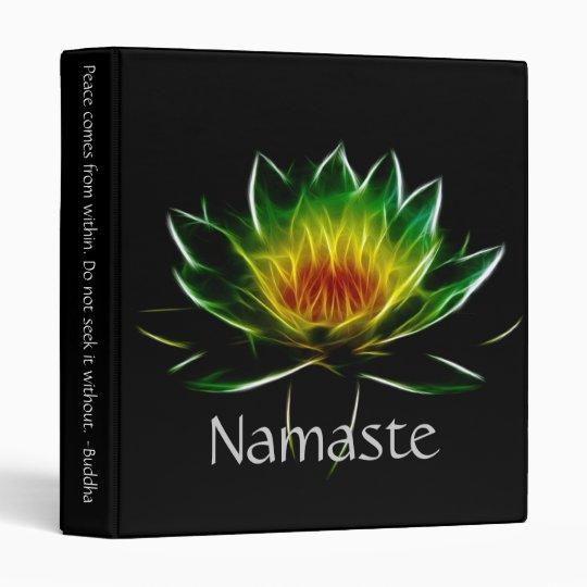Inner Light l Lotus Abstract Art Binder
