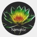 Inner Light l Lotus Abstract Art   Customized Classic Round Sticker