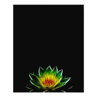 Inner Light l Lotus Abstract Art Flyer