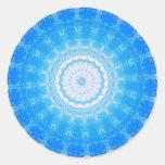 Inner Light  Mandela Classic Round Sticker