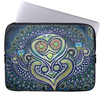 'Inner Light' (Psychedelic Owl) Laptop Sleeves