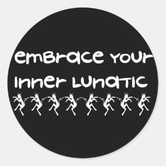 Inner Lunatic Classic Round Sticker