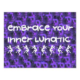 Inner Lunatic 4.25x5.5 Paper Invitation Card