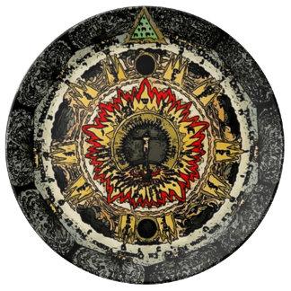 Inner Map Mandala Plate Porcelain Plates