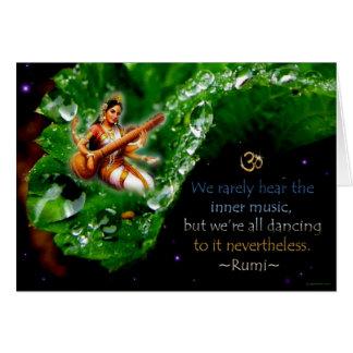 """Inner Music"" Rumi Greeting Card"