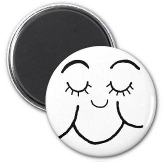Inner peace face magnet