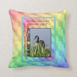Inner Peace Inspirational Throw Pillow