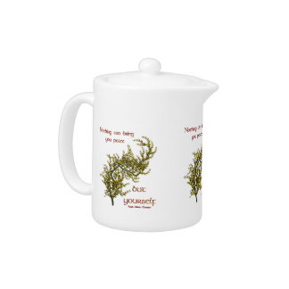Inner Peace Quote Inspirational Teapot