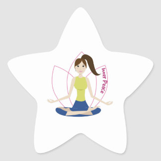 Inner Peace Star Sticker