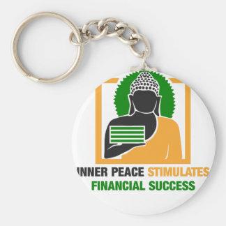 Inner Peace Stimulates Financial Success Keychain