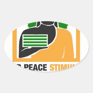 Inner Peace Stimulates Financial Success Oval Sticker