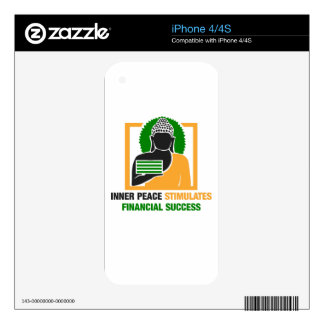 Inner Peace Stimulates Financial Success Skins For The iPhone 4S