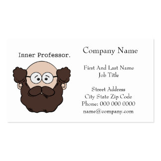 Inner Professor Bearded Teacher Cartoon Double-Sided Standard Business Cards (Pack Of 100)